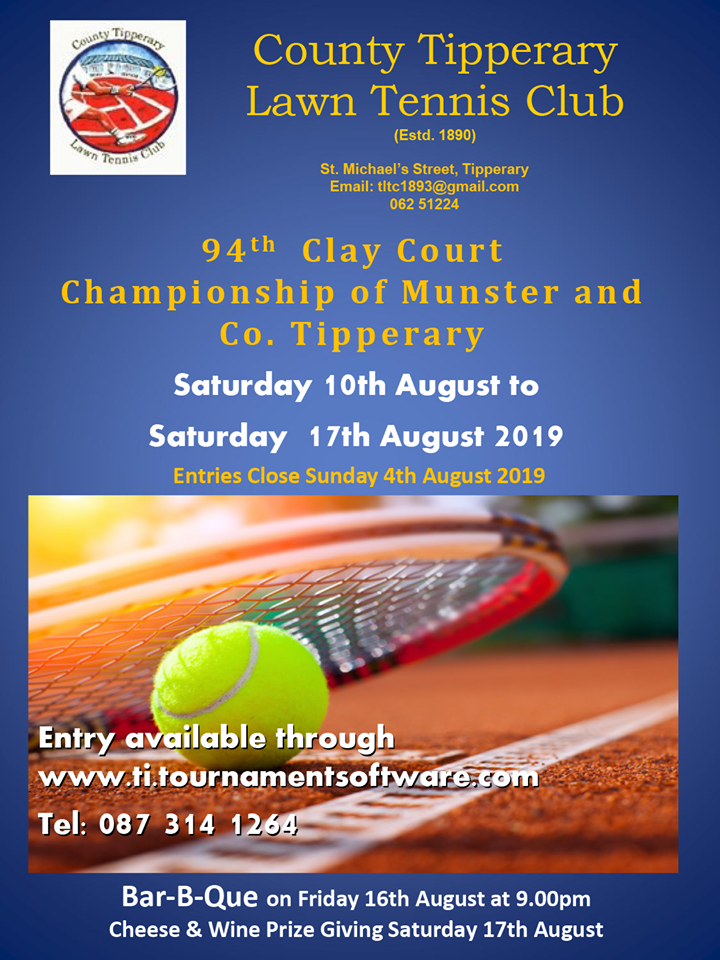 Munster Clay Court Championship Poster 2019
